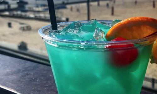 Sunset Grille blue cocktail